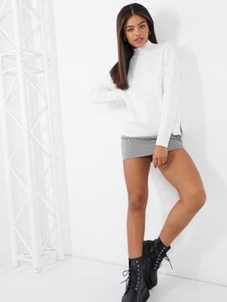 WOMEN New Look high neck sweater in white