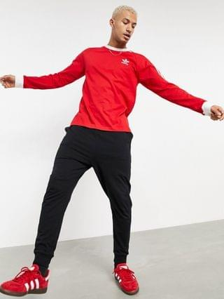 adidas Originals 3-Stripes long sleeve T-shirt in red