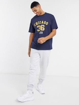 New Look Chicago t-shirt in navy