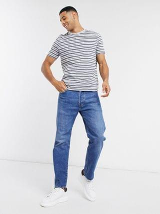 New Look striped t-shirt in light gray