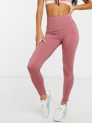 WOMEN In The Style x Courtney Black activewear ruched bum leggings in pink