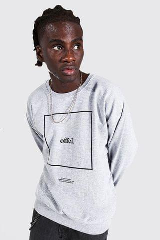 MEN Official Box Print Oversized Sweatshirt