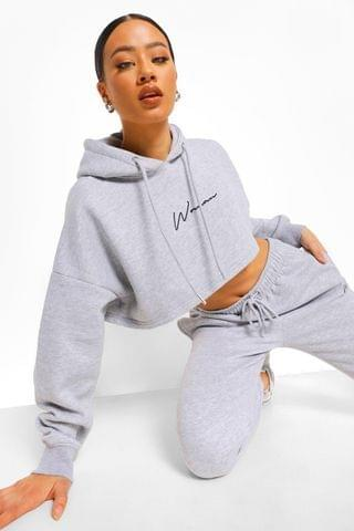 WOMEN Embroidered Cropped Tracksuit