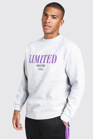 MEN Oversized Limited Print Sweatshirt