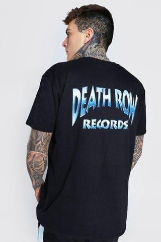 MEN Oversized Death Row Front And Back License T-Shirt