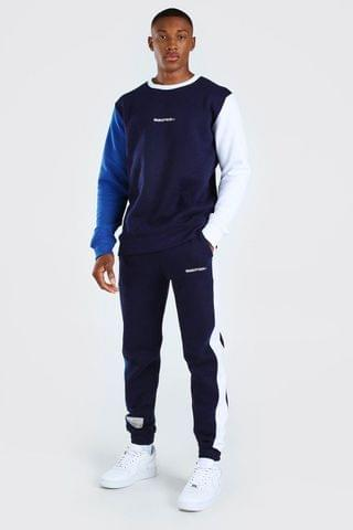 MEN Colour Block Sweater Tracksuit