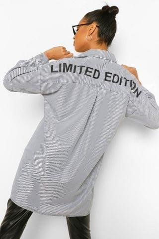 WOMEN Limited Edition Oversized Striped Shirt