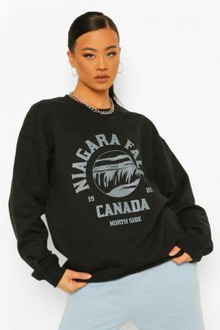 WOMEN Maternity Niagara Falls Graphic Oversized Sweat