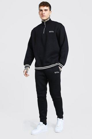 MEN Oversized MAN Ribbed Half Zip Tracksuit