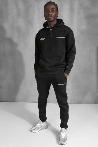 MEN Official Back Print Tracksuit With Tape Detail