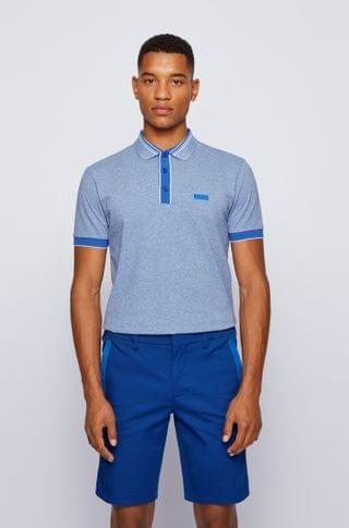 MEN Polo shirt with contrast trims and new-season logo