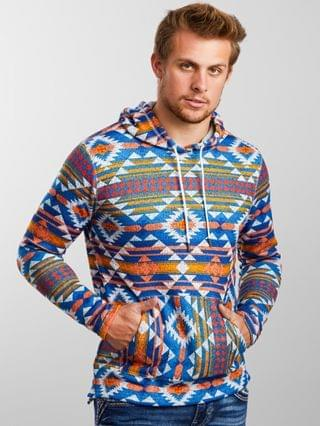 MEN Departwest Southwestern Print Hooded Sweatshirt