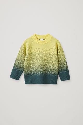 KIDSS CASHMERE-WOOL MIX ABSTRACT FAIR ISLE KNIT SWEATER