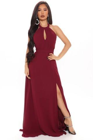 WOMEN Love All Of You Maxi Dress - Burgundy