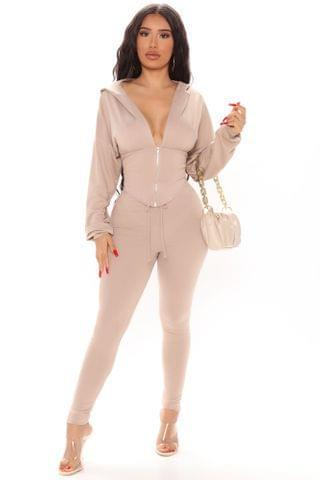 WOMEN Better Than Ever Hoodie Set - Taupe