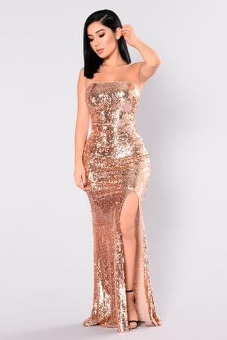 WOMEN Make A Scene Sequin Dress - Rose Gold