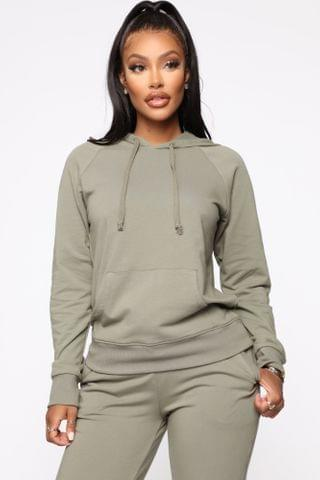 WOMEN Latest And Greatest French Terry Hoodie - Olive