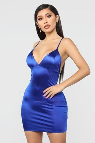 WOMEN Come And See Me Babe Mini Dress - Royal