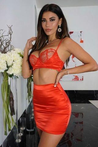WOMEN Anything But Innocent Matching Set - Red