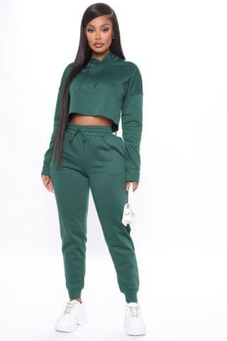 WOMEN Out Of Line Hoodie And Jogger Set - Hunter