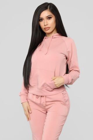 WOMEN Latest And Greatest French Terry Hoodie - Mauve