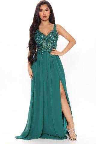 WOMEN Special Occasions Maxi Gown - Green