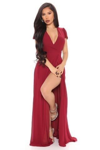WOMEN Wendy Wrap Maxi Dress - Wine