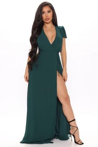 WOMEN Wendy Wrap Maxi Dress - Hunter