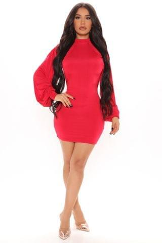WOMEN Looking Back Backless Mini Dress - Red