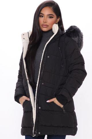 WOMEN Officially Winter Puffer Coat - Black