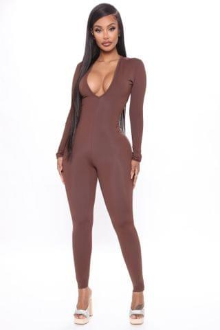 WOMEN Better This Way Jumpsuit - Brown