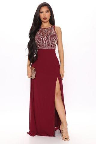 WOMEN Marlene Maxi Dress - Burgundy
