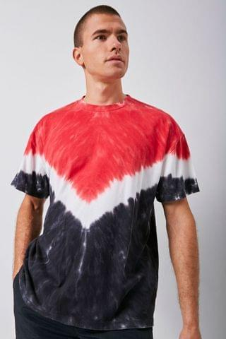 MEN Colorblock Tie-Dye Tee