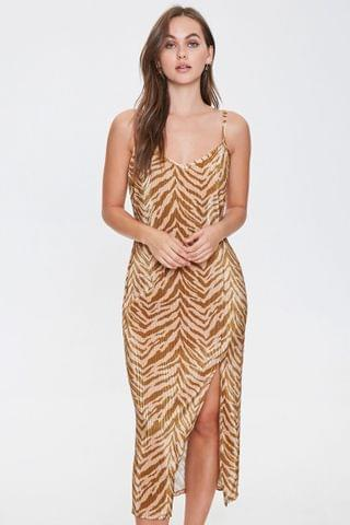WOMEN Tiger-Striped Midi Dress