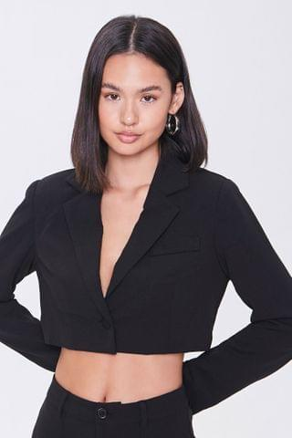 WOMEN Cropped Single-Breasted Blazer