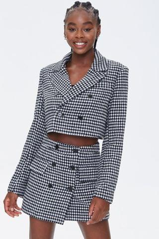 WOMEN Houndstooth Mini Skirt