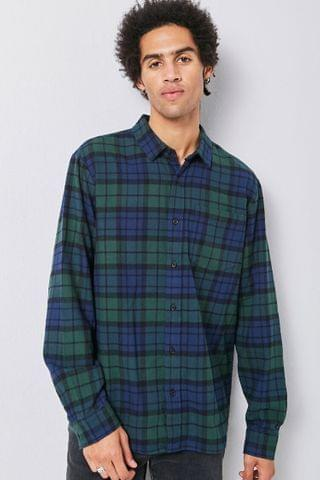 MEN Classic Fit Plaid Flannel Shirt