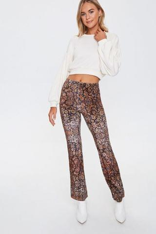 WOMEN Ornate Floral Flare Pants