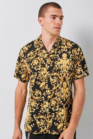MEN Classic Fit Baroque Print Shirt