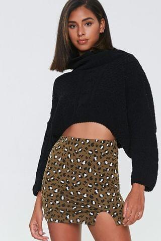 WOMEN Leopard Print Mini Skirt