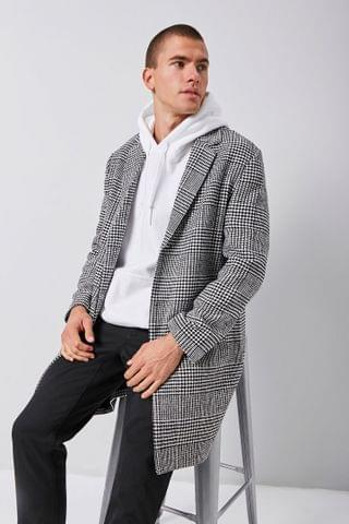 MEN Plaid Longline Blazer