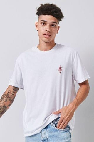 MEN Snake & Sword Embroidered Graphic Tee