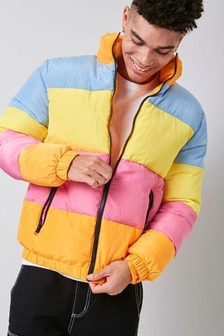 MEN Colorblock Puffer Jacket
