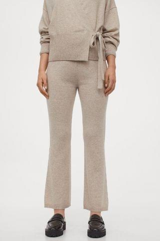 WOMEN Fine-knit Cashmere Pants