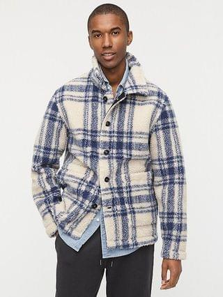 MEN Wallace & Barnes sherpa fleece donkey jacket in plaid