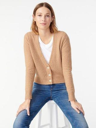 WOMEN V-neck sparkle cardigan sweater in supersoft yarn