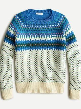 KIDS Boys' Fair Isle crewneck sweater