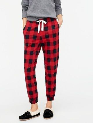 WOMEN Dreamy pajama jogger pant in buffalo check plaid