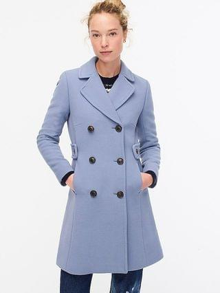 WOMEN Double-breasted lady coat in Italian double-cloth wool