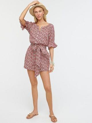 WOMEN Belted romper in Liberty Betsy Ann floral